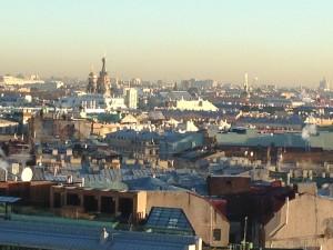 Uitzicht vanaf de Izaakcathedraal