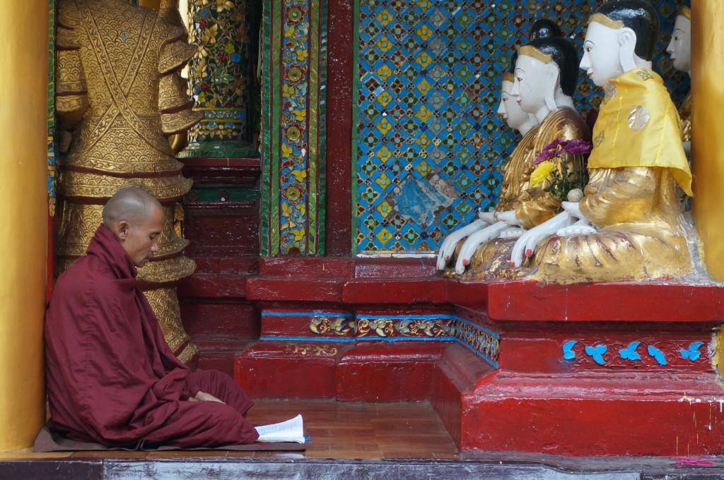 Monniken in Myanmar