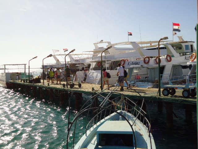 De boten in Sharm El Sheikh