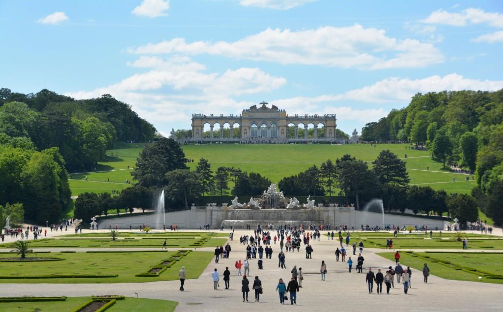 De tuin van Schonbrunn