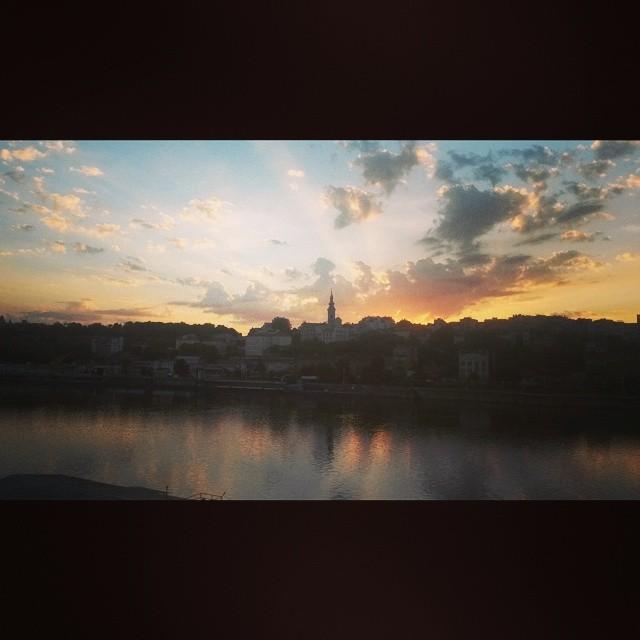 sunset belgrado