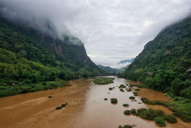 Uitzicht in Nong Khiaw
