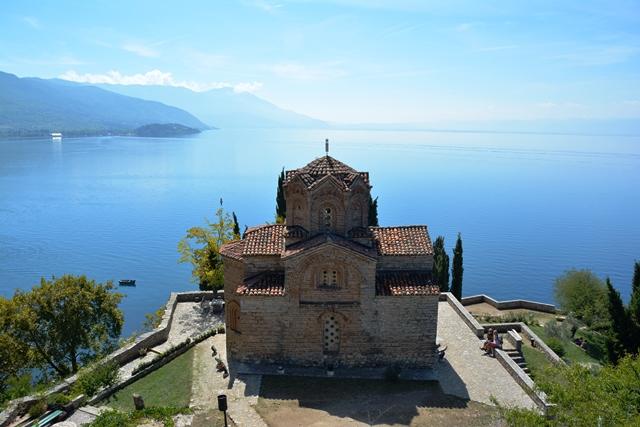 St Jovan Kaneo in Ohrid, Macedonie