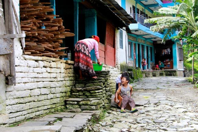 02 Nepal - Dorpje Himalaya