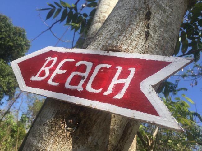 Bali Beach bordje
