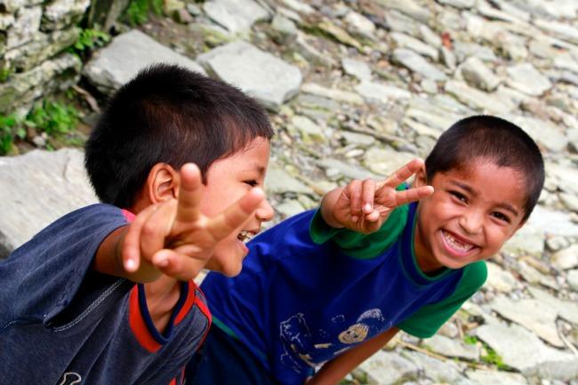 Kinderen Nepal