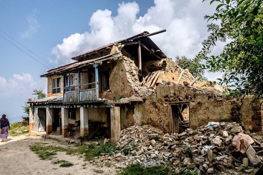 Schade aardbeving
