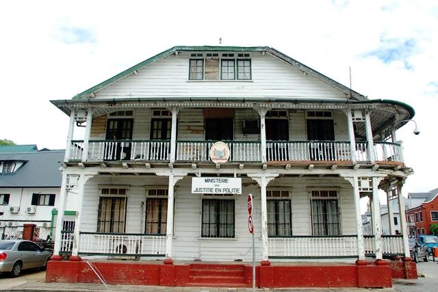 De houten architectuur in Paramaribo