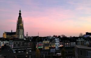Uitzicht op Breda en de Grote Kerk