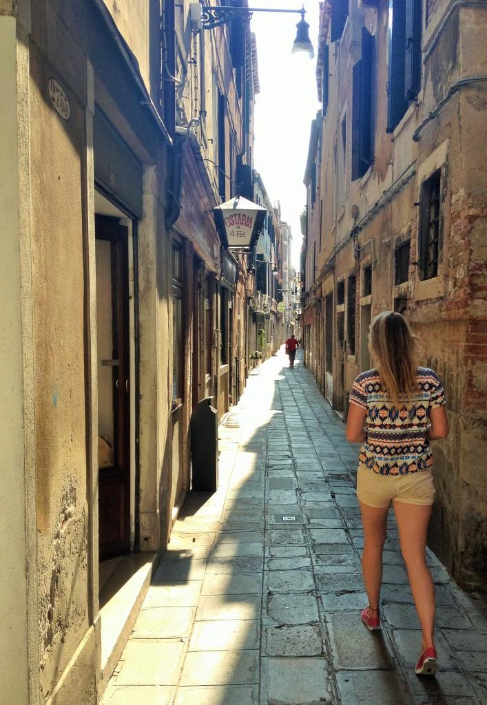 Oude straat in Venetië