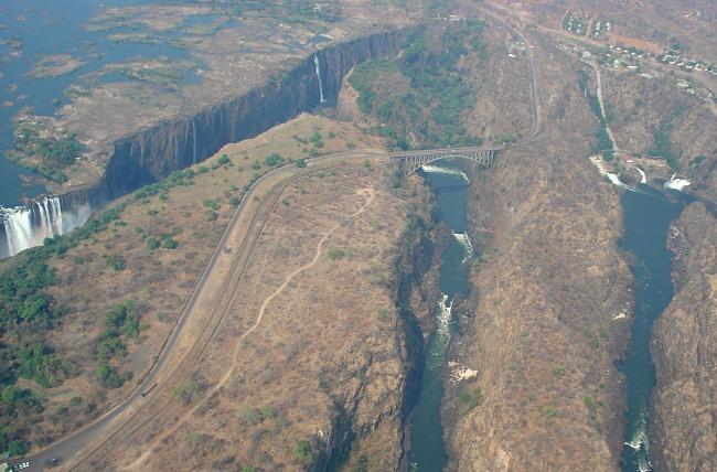 Overzicht Victoria Watervallen