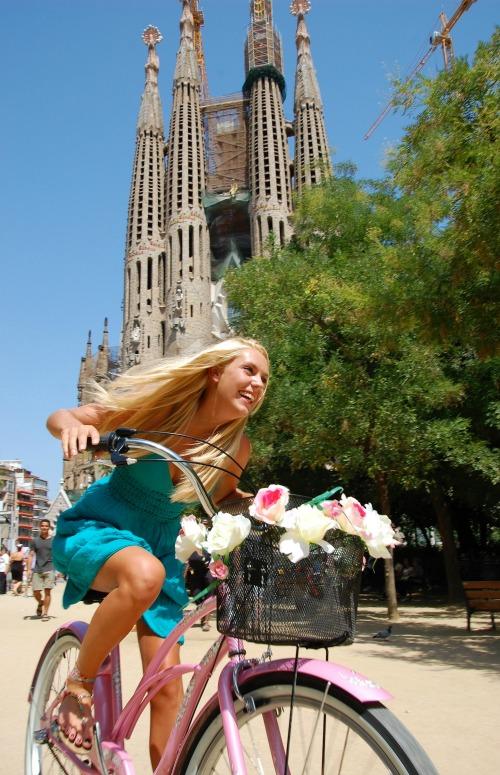 Cruising Barcelona fietstour tijdens stedentrip naar Barcelona