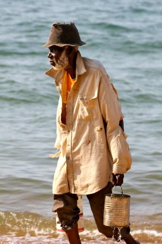 Oude man Lake Malawi