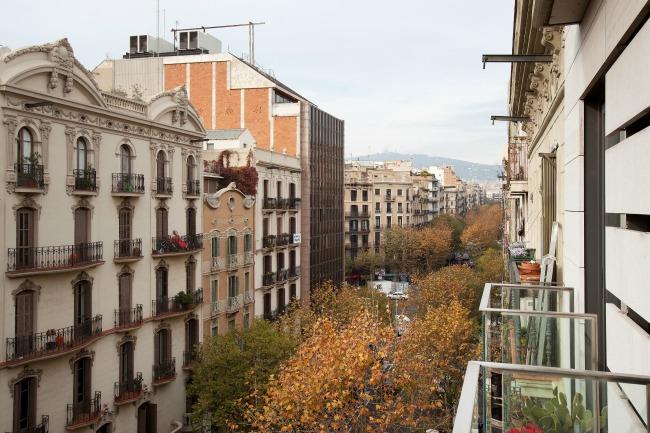 Uitzicht appartement Enjoy Apartments tijdens stedentrip naar Barcelona