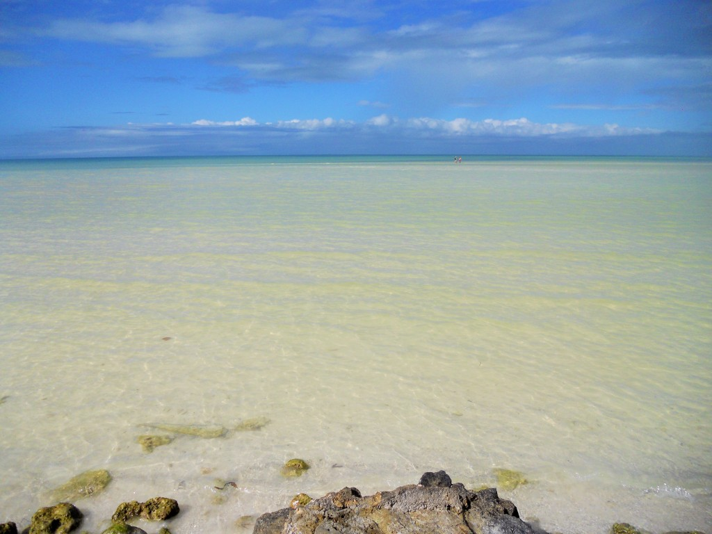 Het strand van Isla Holbox, Mexico