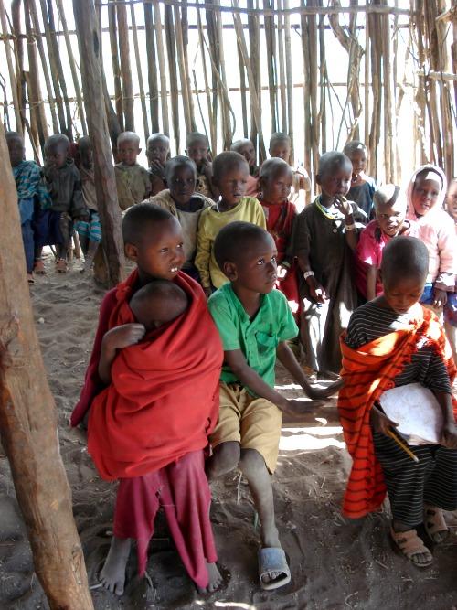 Maasai kinderen