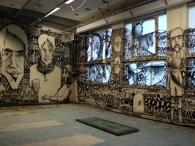 Urban kunstenaar - Denis Meyers @ het oude gebouw van firma Solvay