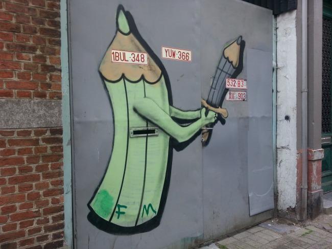 """Street art eist een prominente plaats op in de hedendaagse kunst, """"pencil-graffers"""""""
