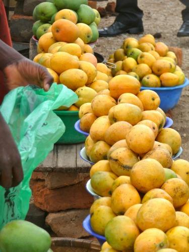 Eten halen op een lokale markt
