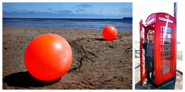 Het strand van Dundee