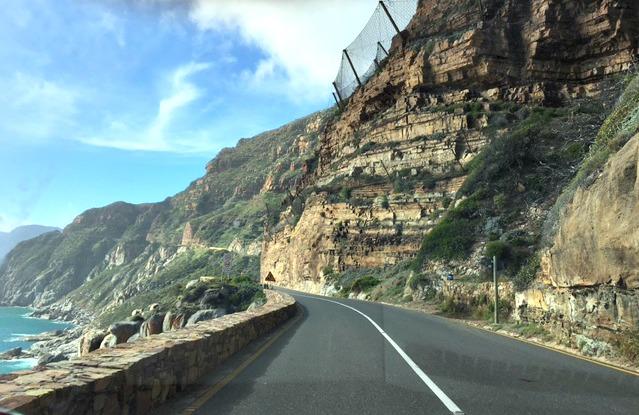 Rijden over Chapman's Peak Drive