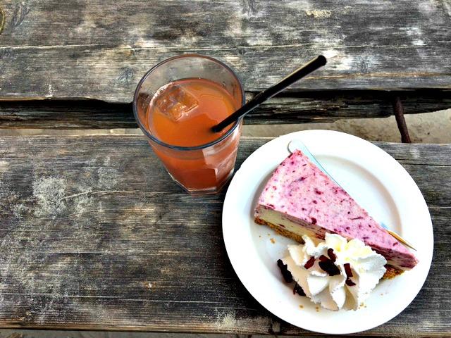 Eet een Cranberry cheesecake op Terschelling