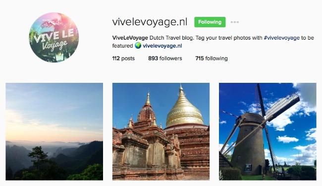 Instagram Vive Le Voyage