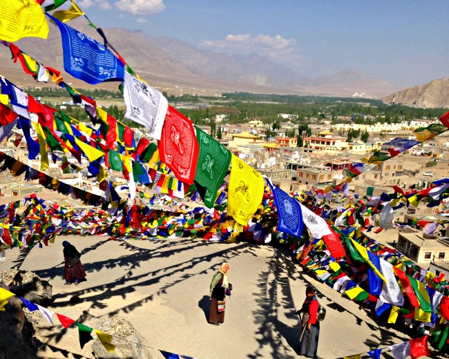 Ladakh gebedsvlaggetjes