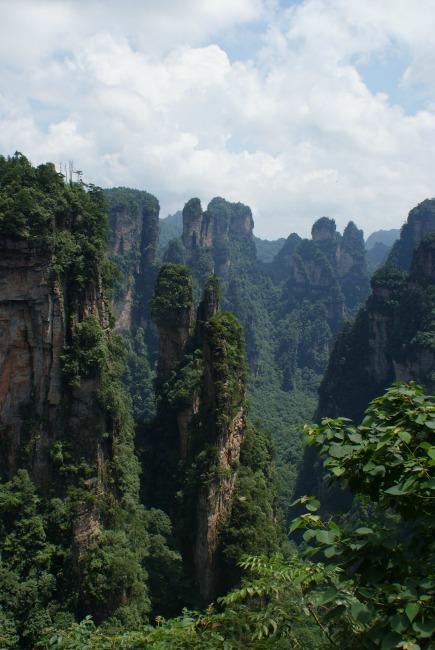 Zhangjiajie bergen
