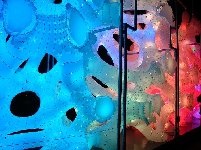 Lichtkunstwerk Rhizome House
