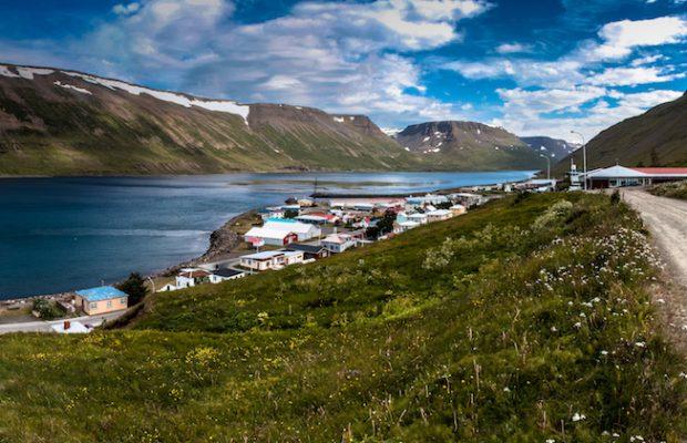 Sudureyri vissersdorpje in Ijsland