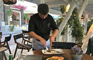eten op Santorini