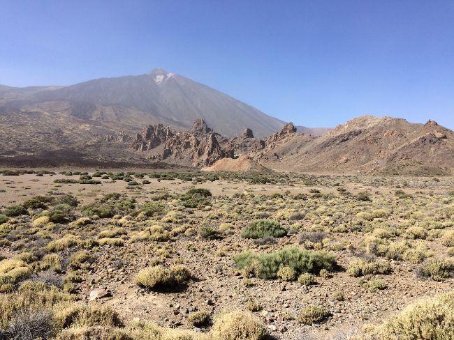 Maanlandschap op vulkaan el Teide