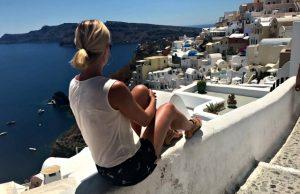 Het Griekse eiland Santorini