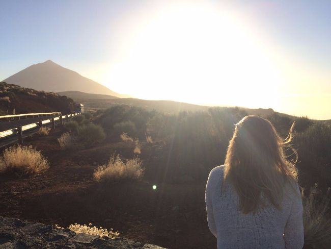 Zonsondergang vanaf el Teide