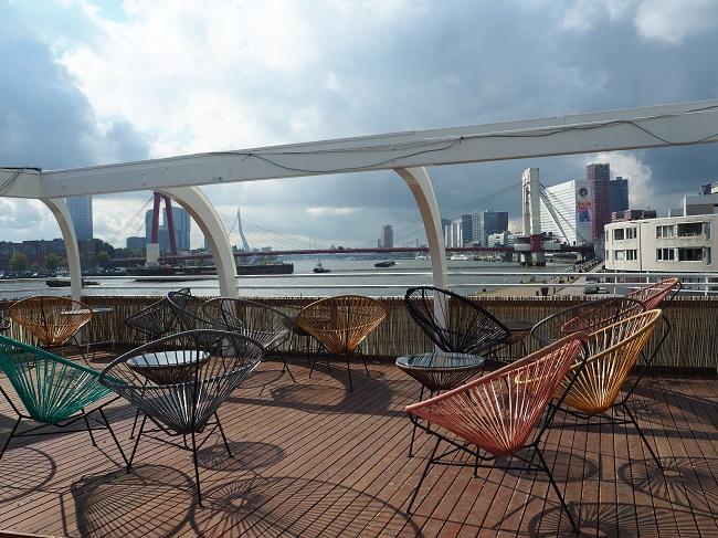 lunchen in Rotterdam met uitzicht