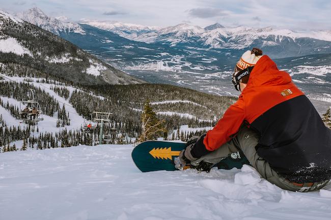 In alle rust van de pistes af tijdens een wintersport in Canada