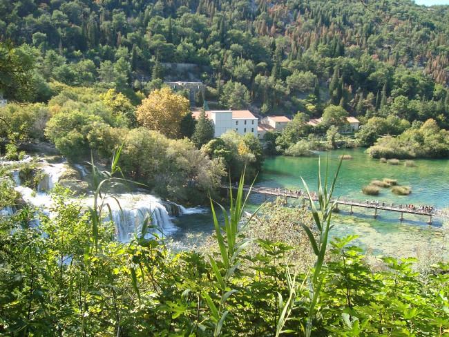 Uitzichtpunt Krka watervallen Kroatië