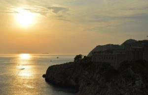 Zonsondergang-oude-stad-Dubrovnik