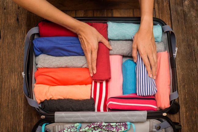 Kleding oprollen koffer tips