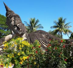 Buddha beeld bij Wat Xieng Khuan